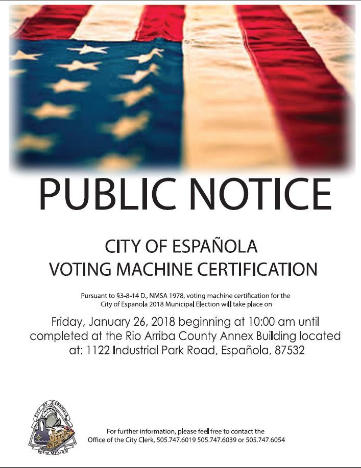 Voting Certification Public Notice