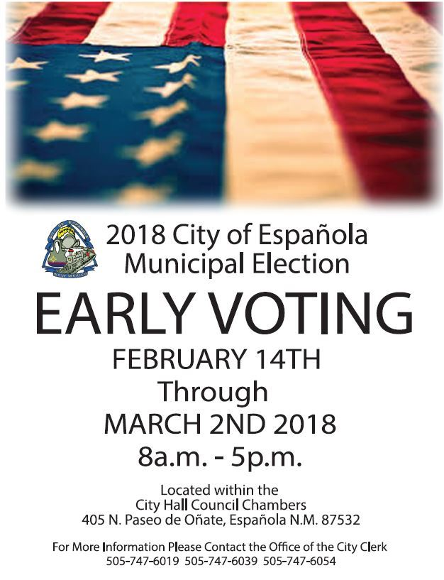 Election Early Voting Public Notice