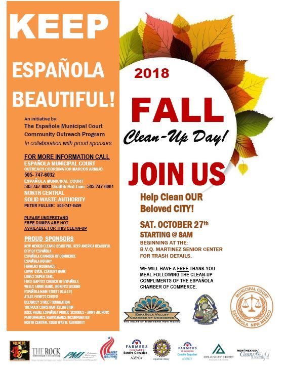 Keep Espanola Beautiful Fall 2018