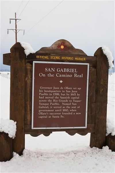 San Gabriel on the Camino Real Historical Marker